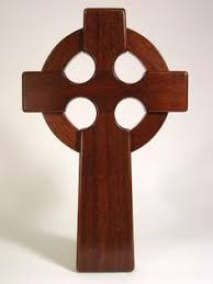celtic cross wall hanging large 16 inch celtic wall hanging cross mahogany wood