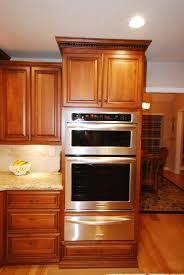 Cherry Cabinets Kitchen Starmark Cherry Cabinets With Kitchenaid Oven Microwave Combo
