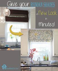 Kitchen Window Treatments Roman Shades - remodelando la casa give your roman shades a new look