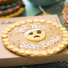 cookie emoji get well soon emoji giant chocolate chip cookie yumbles com