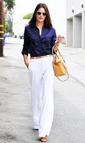 inspiração looks trabalho white wide leg pants alessandra