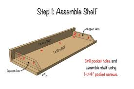 diy secret floating shelf free plans rogue engineer