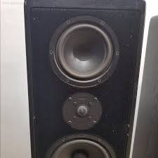 canton home theater vintage canton erg0 90 german tower speakers black oak finish ebay