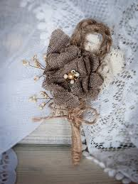 burlap boutonniere rustic chic boutonniere with handmade burlap от rusticbeachchic