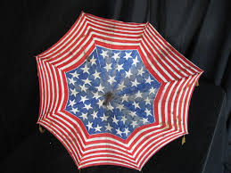 How To Paint American Flag Antique Americana Patriotic American Flag Pattern Parade Parasol