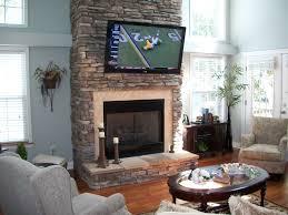 mount tv over stone fireplace fireplace ideas