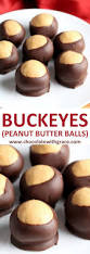 buckeyes peanut butter balls chocolate with grace