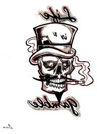 top hat skull tattoo tarot card of a top hat cowboy skull tattoo