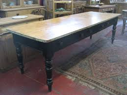 Victorian Pine Farmhouse Table With A Bench Antiques Atlas - Victorian pine kitchen table