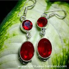 garnet earrings garnet handcrafted earrings sterling silver spiritual gifts