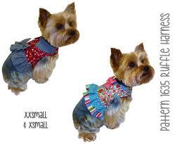 shirt pattern for dog ruffle dog harness pattern xxsmall xsmall dog clothes sewing