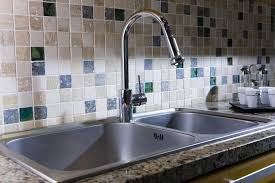 Kitchen Faucets For Granite Countertops Sinks Acrylic Divided Kitchen Sink With Bronze Kitchen Faucet On