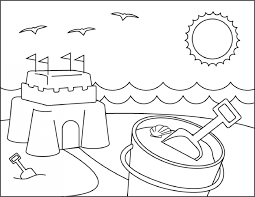 summer vacation coloring pages kids coloring