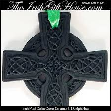ornament peat celtic cross