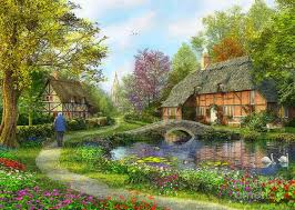 houses english cottage flowers gardens lakes attractions dreams