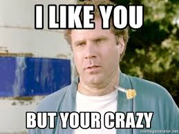 Your Crazy Meme - i like you but your crazy will ferrell 2 meme generator