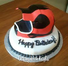 used motocross helmets caking with kayla motocross helmet cake