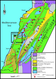 Map Of Lebanon 3 D Modeling Of Geologic Maps From Surface Data Aapg Bulletin