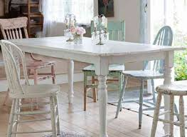 dining impressive lovable shabby chic dining table and chairs