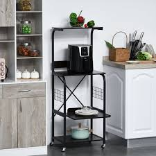kitchen storage cupboard on wheels htovila rolling microwave cart utility kitchen 4 tier storage shelf on wheels with side wire grids black