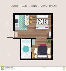 detailed apartment furniture overhead top view studio apartment apartment bedroom flat furniture illustration one overhead studio