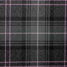 pink tartan highland granite pink heavy weight tartan fabric lochcarron of