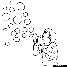 blowing bubbles coloring polar bear pattern