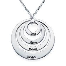 metal circle necklace images Four open circles necklace with engraving mynamenecklace jpg