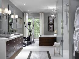 spa master bathroom with home gym hgtv