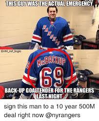 Nhl Meme - this guywas theactual emergency logic mebackup 0 back up goaltender