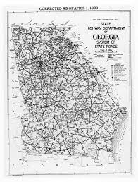 Georgia State Map by Google Answers 1930 U0027s Travel Routes And Times