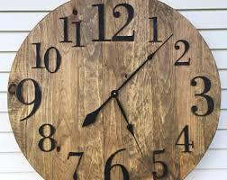 wooden clock etsy