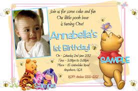 Free Online Birthday Invitation Cards For Kids Winnie The Pooh Birthday Invitations Printable Photo Card
