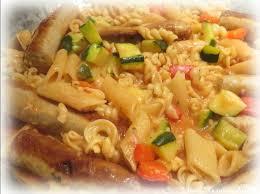 cuisiner les c es frais ღ miam one pot pasta aux saucisses blanches aux légumes et