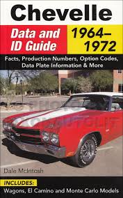 1968 chevelle factory assembly manual reprint el camino malibu and ss