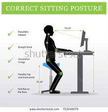Desk Height Ergonomics Ergonomic Correct Standing Posture On Height Stock Vector