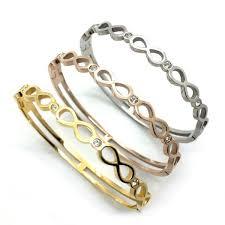 infinity bangle bracelet images Infinity bangle bracelet stainless steel pearlsandrocks jpg