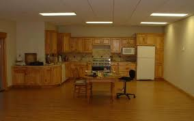Laminate Basement Flooring Kitchen Mediterranean Kitchen Design In Basement With White