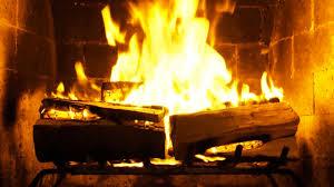 crackling fireplace binhminh decoration