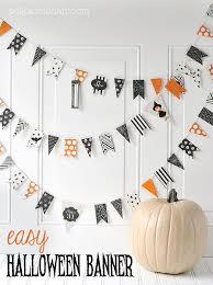 halloween diy easy diy halloween banner the polka dot chair