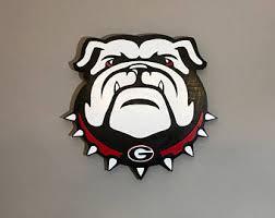 Georgia Bulldog Rugs Georgia Bulldogs Art Etsy