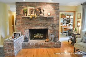 modern living room with brick fireplace design home design ideas