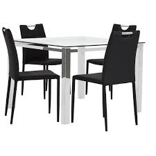 city furniture skyline black square table u0026 4 upholstered chairs