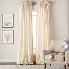 White Lined Curtain Panels Heritage Landing 108 Inch Faux Silk Lined Curtain Panel Pair
