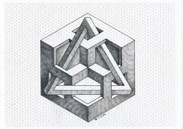 impossible isometric geometry symmetry hexagon penrose