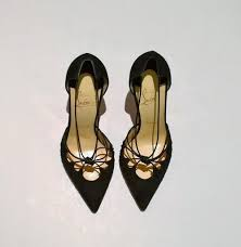 christian louboutin riri black suede strappy heels sale courts