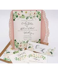 wedding invitations greenery shopping s deal on blush and white floral