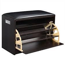amazon com giantex wood shoe storage cabinet bench ottoman closet