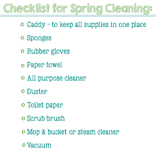 must have items for spring cleaning printable checklist
