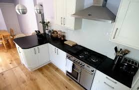 plan de travail cuisine noir extraordinaire cuisine noir plan de travail bois blanc design